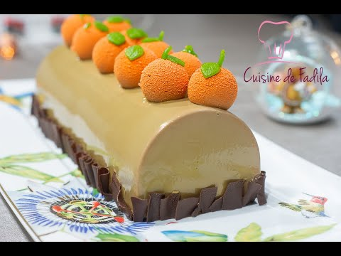 recette-de-bûche-au-chocolat-au-lait-orange