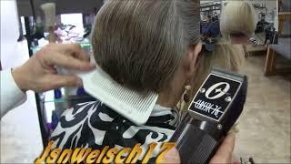 Womens clipper bob haircut / Bobbie's clipper & shear haircut / womens scissor haircut