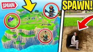 NASCONDINO in SPAWN ISLAND! NEW EPIC BUG! Fortnite ITA Challenge / Challenges