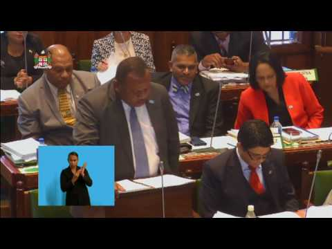 Fijian Minister for Agriculture's Statement on the 2017-2018 National Budget.