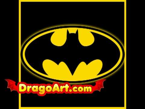 How To Draw The Batman Logo Step By Step Youtube