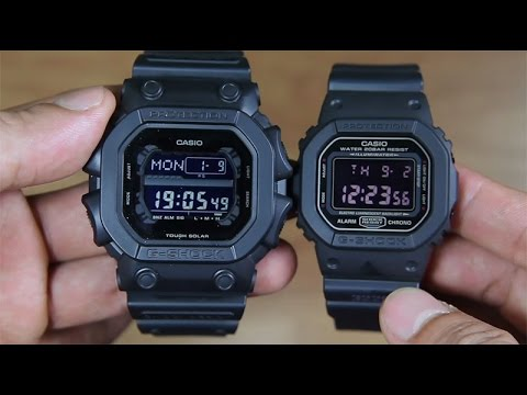 69d5bcfd70b CASIO G-SHOCK GX-56BB-1 VS G-SHOCK DW-5600MS-1 SIDE BY SIDE - YouTube