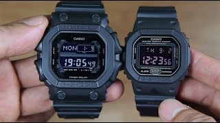 CASIO G-SHOCK GX-56BB-1 VS G-SHOCK DW-5600MS-1 SIDE BY SIDE
