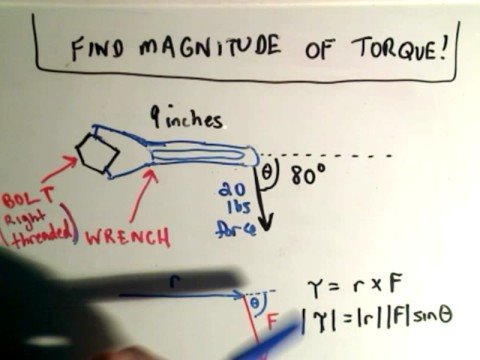 Torque - An application of the cross product