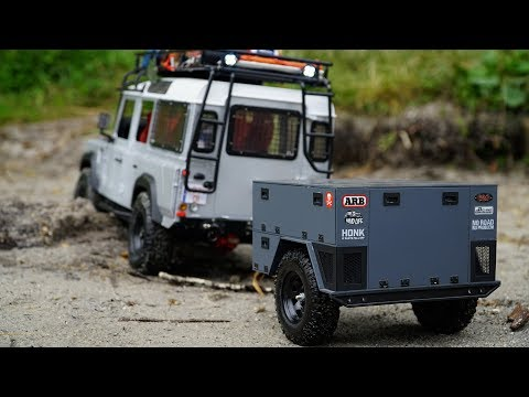 RC4WD Kahn Defender D110 With Custom 1/10 Scale RC Trailer | Test Run