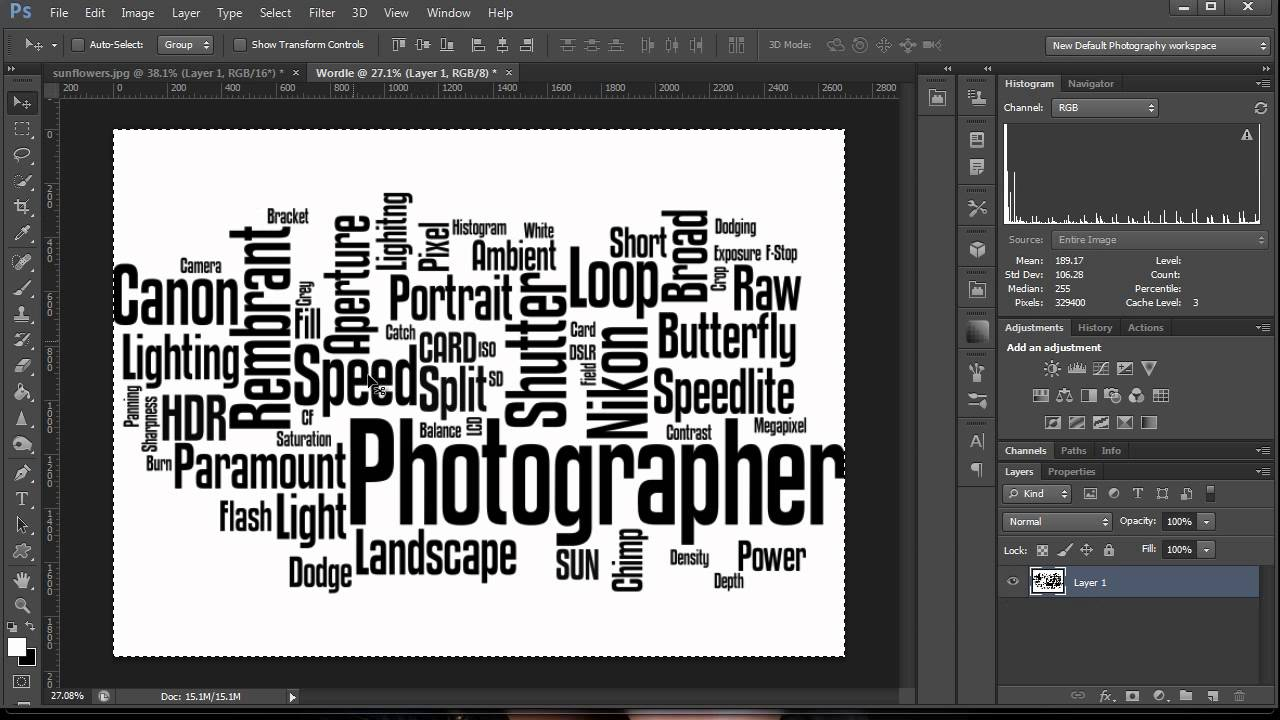 How to make a word cloud in photoshop youtube how to make a word cloud in photoshop maxwellsz