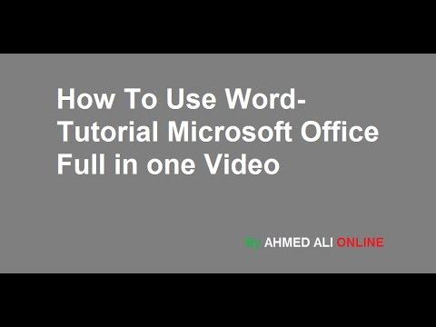 ms word 2007 tutorial in urdu pdf