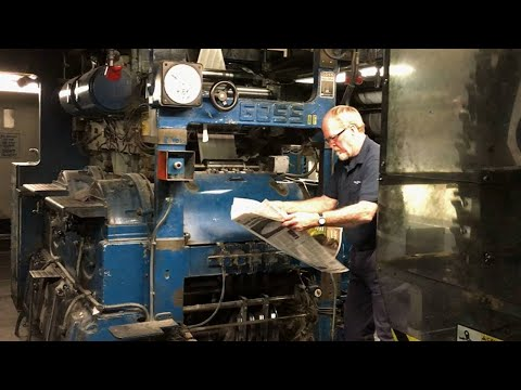 One of final runs of presses at Florida-Times Union building