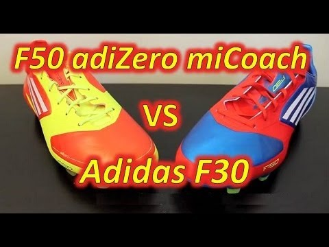 c026a098d Adidas F50 adizero miCoach VS Adidas F30 - Comparison - YouTube