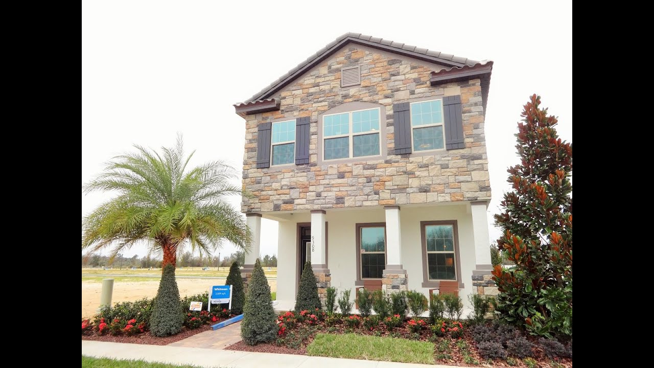 watermark by meritage homes in winter garden whitman model home