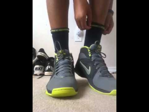 33d6d0a885ed69 Nike elite socks with basketball shoes - YouTube