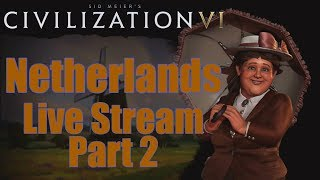 Video Civ 6 Livestream - Rise and Fall Expansion! - Netherlands (Deity) Continued download MP3, 3GP, MP4, WEBM, AVI, FLV Maret 2018