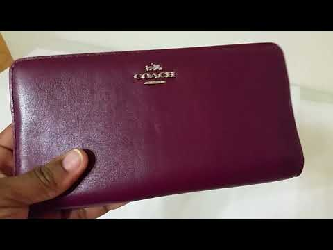 COACH:  SKINNY WALLET In Leather