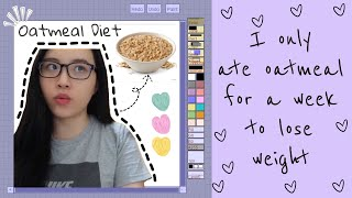 I TRIED EATING OATMEAL FOR A WEEK AKA VERSATILE VICKY OATMEAL DIET PLAN