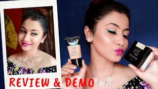 Maybelline Fit Me Foundation Tube + Maybelline Fit Me Loose Powder Review And Demo.