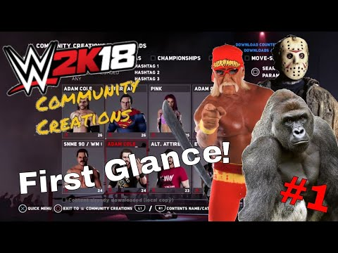 WWE 2K18 COMMUNITY CREATIONS FIRST GLANCE