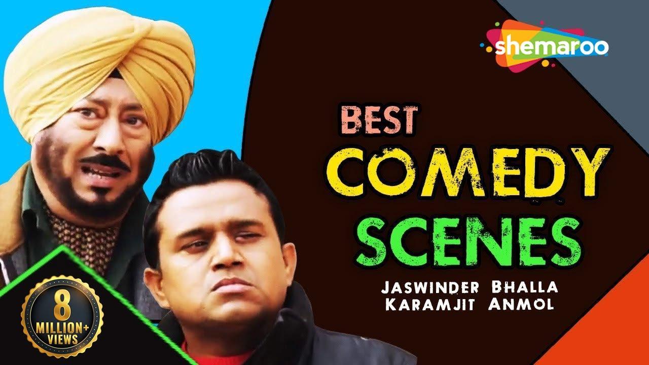 Best Comedy Scenes   Jaswinder Bhalla   Karamjit Anmol   Latest Punjabi Comedy