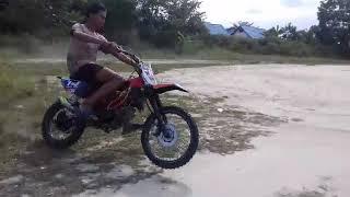 Setting jupiter grasstrack bebek modif 110cc with norifumi gtx pro muffler