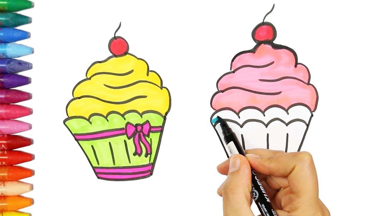 Wie zeichnet man Muffin | Wie man Muffin Kuchen zieht | Zeichnen und ...