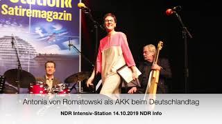 Antonia von Romatowski als AKK beim Deutschlandtag