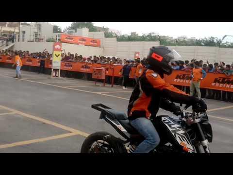 KTM Stunt Show in Ajmer City