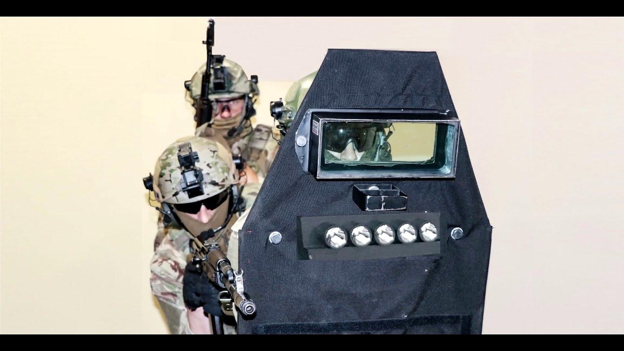 Бронещит от Bodyguard 4 класса с стробоскопами. Анонс баллистического щита.