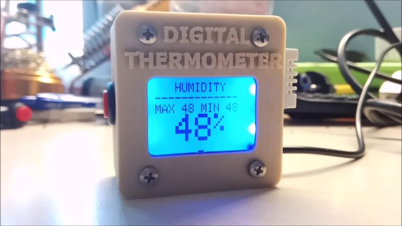 Arduino 3D Printed Digital Thermometer With DHT-22 Sensor: 5 Steps
