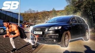 ARABA ÇEKME CHALLENGE YAPTIK!!! | KAFA ile Audi Q7 ÇEKTİK!!!
