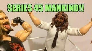 WWE ACTION INSIDER: B45 MANKIND Mattel Superstars Series 45 Wrestling Figure Toy Review!