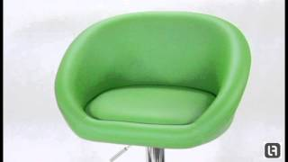 Venus Green Padded Bar Stool
