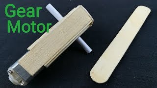 How to make DC Gear Motor with ice cream sticks step by step || part 1