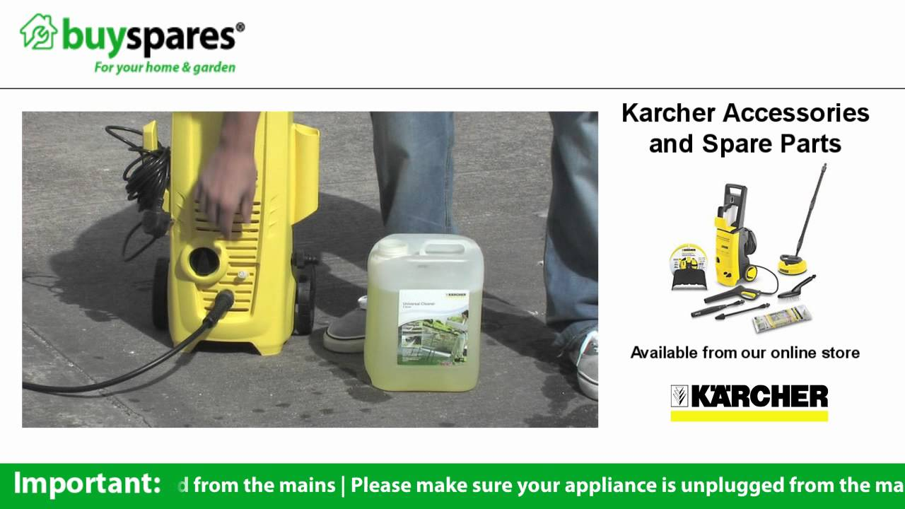 How To Use Detergent In Your Karcher Pressure Washer