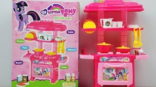 My Little Pony Mini Kids Kitchen Set Unpacking & Toy Review for Kids
