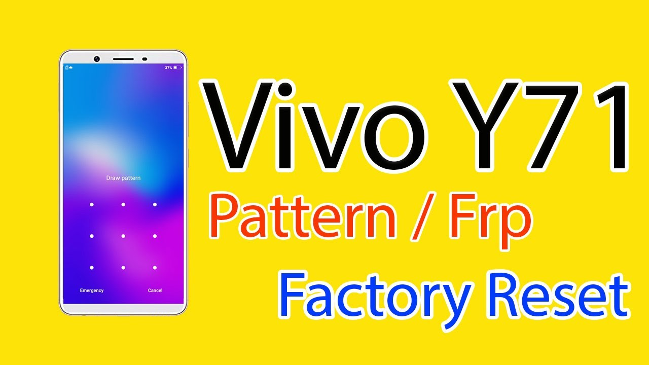 Vivo Y71 Vivo 1724 Android ver 8 1 0 Pattern FRP Factory Reset Miracle Box