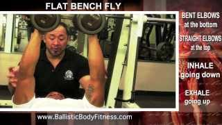 Flat Bench Fly for Chest - BBF 90 Day Fitness Challenge Instruction Video #1(Flat Bench Fly for Chest -- BBF 90 Day Fitness Challenge Instruction Video #1. Please visit our site for more videos, freebies, expert fitness tips and instruction: ..., 2013-12-31T18:20:29.000Z)