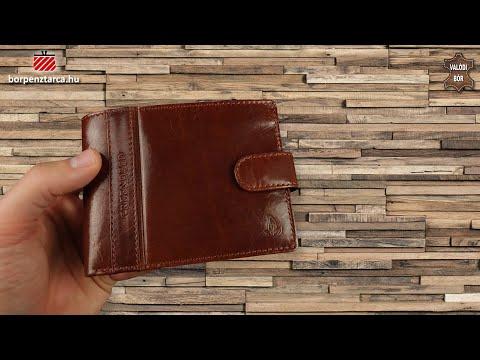 f1e869712e43 Valódi bőr pénztárca díszdobozban GreenDeed PA702/T cognac