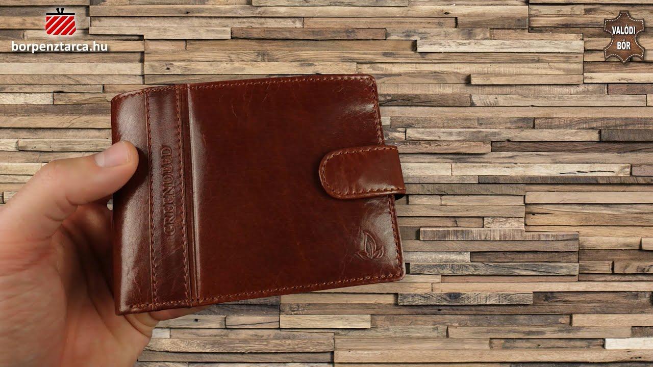 d7bf67a48d8d Valódi bőr pénztárca díszdobozban GreenDeed PA702/T cognac - YouTube