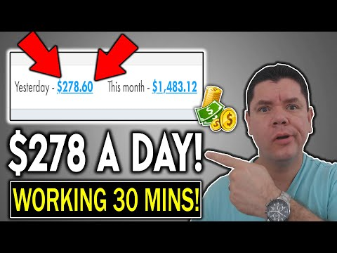 MAKE $278 TO $500 💰🔥IN 30 MINUTES🔥💰 A DAY: EASY METHOD TO MAKE MONEY ONLINE!