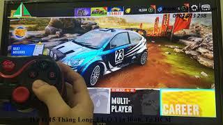 Test game asphalt trên android tivi box zidoo x9 bằng tay game t3