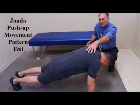 Janda Push Up Movement Pattern Test Youtube
