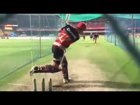 ABD batting! slow motion