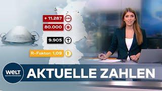 Mehr als elftausend an einem tag: immer menschen in deutschland tragen das corona-virus sich - die positiv-tests gingen sprunghaft nach oben. rob...