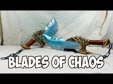 DIY Blades of Chaos (God of War) with templates