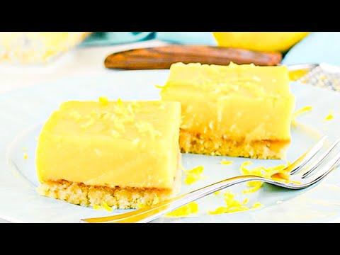 Keto Recipe Lemon Bars Dessert, or Make them as a