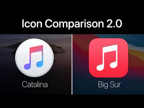macOS Big Sur vs Catalina Icons - Updated Version