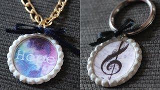 DIY : Colliers ou porte clés à base de capsules de bouteilles ! Thumbnail