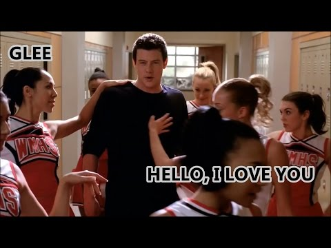 Glee-Hello, I Love You (Lyrics/Letra)