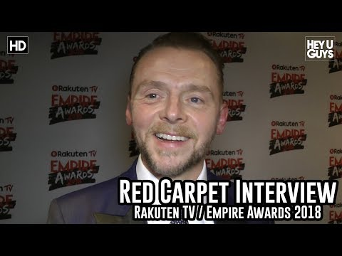 Simon Pegg on Tarantino's Rrated Star Trek film  Empire Awards 2018 Red Carpet