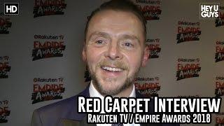 Simon Pegg on Tarantino's R-rated Star Trek film - Empire Awards 2018 Red Carpet Interview