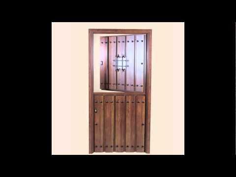 Puertas rusticas de aluminio youtube for Puertas rusticas exterior
